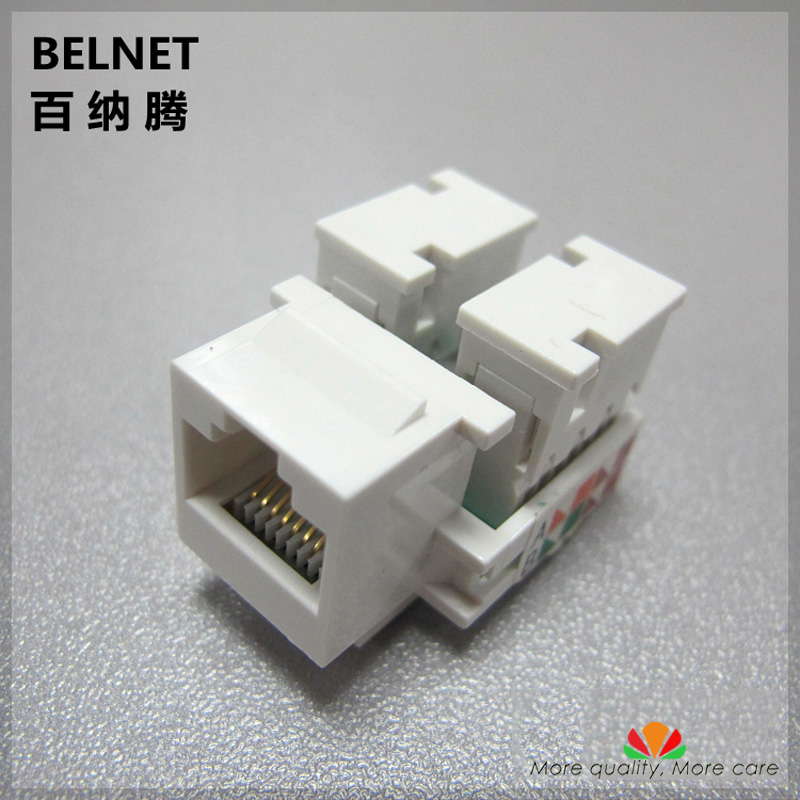 UTP CAT5E network Module RJ45 computer connector Tool-free Information socket IO Cable adapter Keystone Jack