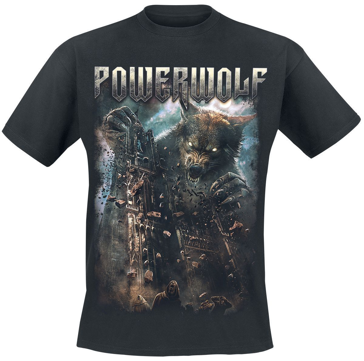 Powerwolf Katedrali T-Shirt siyah